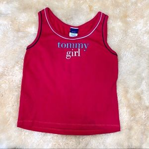 TOMMY HILFIGER GIRL red blue white logo tank top